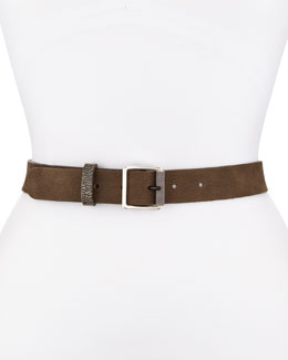 Nubuck Textured-Roller Hip Belt