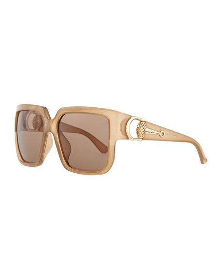 4ed2b132645 Gucci Sunsights Diamantissima Square Sunglasses