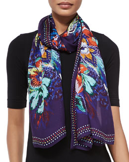 Bonnard Printed Lightweight Scarf