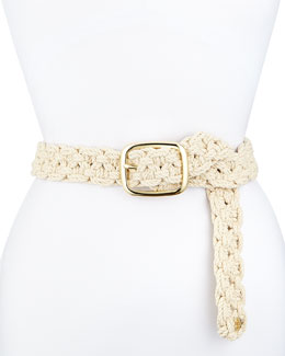Macrame Belt with Golden Hardware