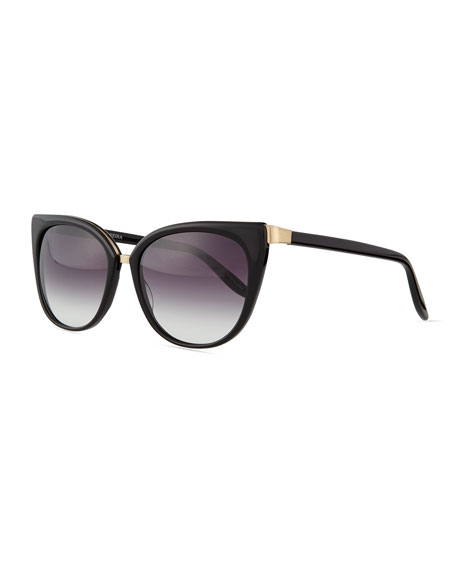 Ronette Cat-Eye Sunglasses, Black