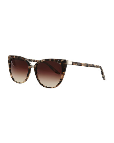 Ronette Cat-Eye Sunglasses, Orion Marble