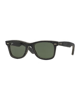 Ray-Ban Black Denim Wayfarer Sunglasses