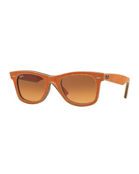 Orange Denim Wayfarer Sunglasses