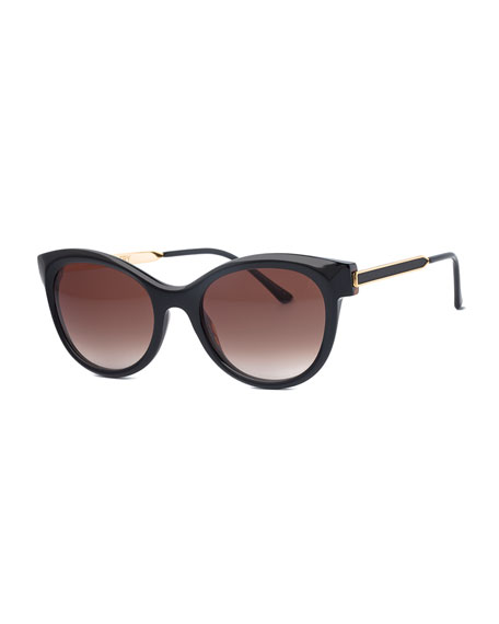 Flirty Butterfly Vintage Sunglasses, Black