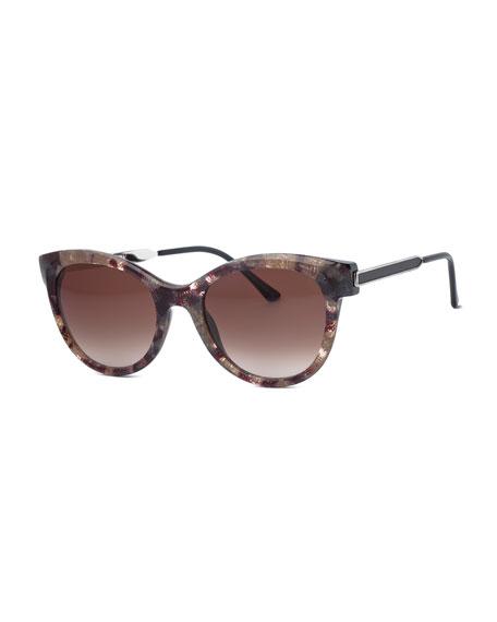 Flirty Butterfly Vintage Sunglasses, Gray/Multi