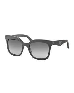 Prada Square Sunglasses, Gray
