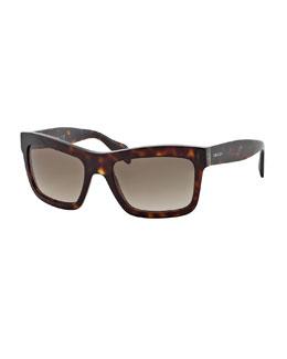 Prada Rectangle Sunglasses, Havana