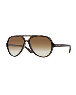 Ray-Ban Plastic Aviator Sunglasses, Tortoise