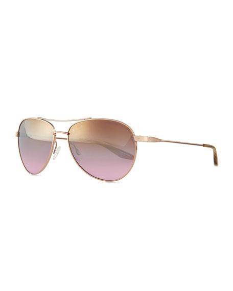 Barton Perreira Universal Fit Lovitt Mirror Aviator Sunglasses,
