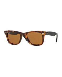 Classic Wayfarer Sunglasses, Havana Tortoise