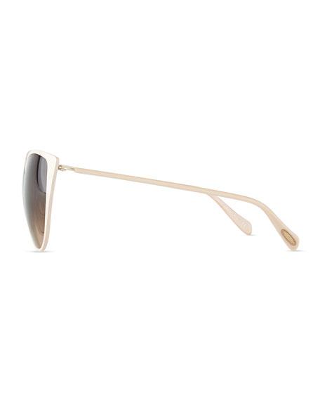 Jade Cat-Eye Sunglasses, Nude