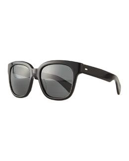 Brinley Square Sunglasses, Black