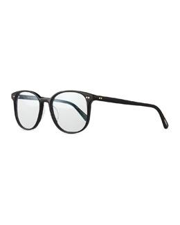 Scheyer Oval Fashion Glasses, Black