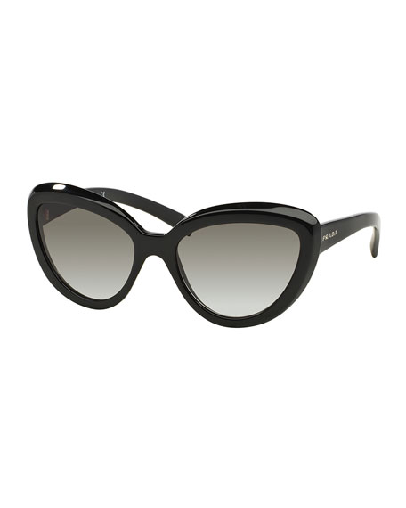 abfb4a08948 Prada Thick-Rim Cat-Eye Sunglasses