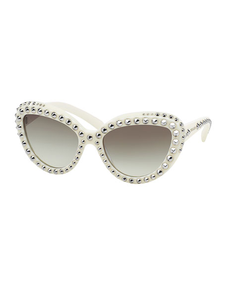59dc497625 ... switzerland prada cat eye studded sunglasses black bc16e cb7ab