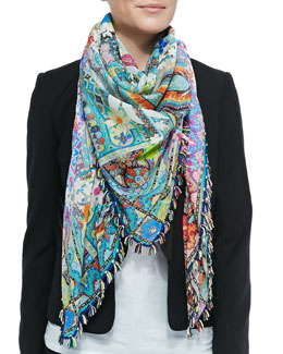Floral/Paisley Square Scarf