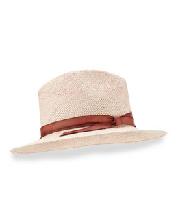Indi Hand-Dyed Panama Hat, Rose