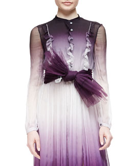 Pleated Tulle Belt