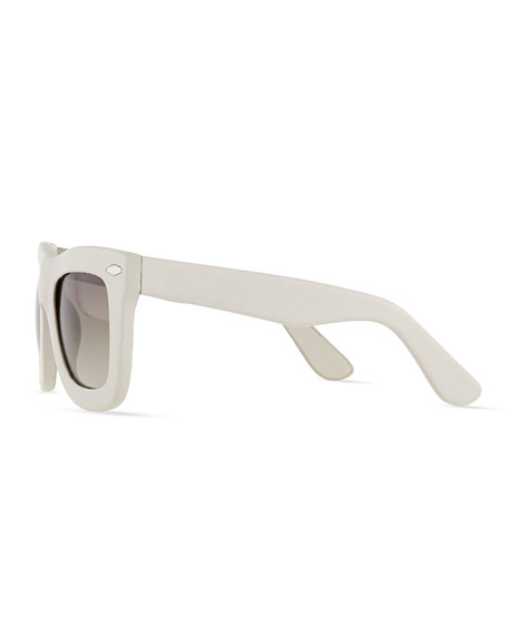 Status Thick Plastic Sunglasses, Cream