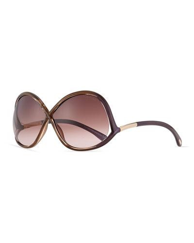 Ivanna Wrap Sunglasses, Havana