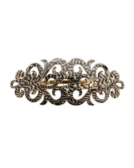 Elysee Scroll Acetate Barrette