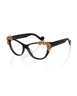 Lily Love Fashion Glasses, Black/Golden