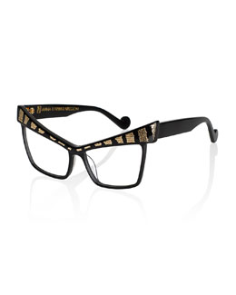 Apple of My Eye Fashion Glasses, Black/Golden