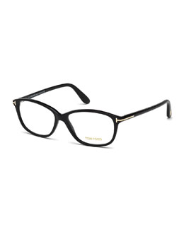 Soft Square Fashion Glasses, Black