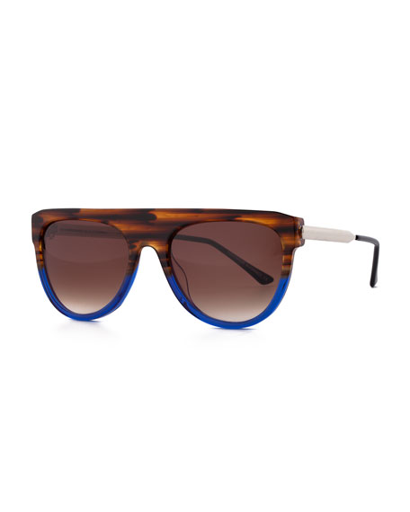 Vandaly Shield Sunglasses, Blue/Brown