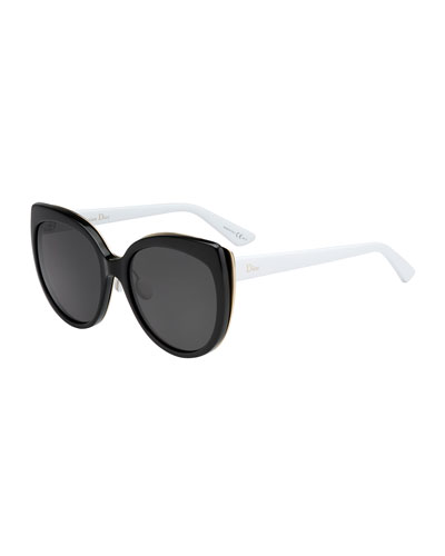 Diorific Butterfly Sunglasses, Black