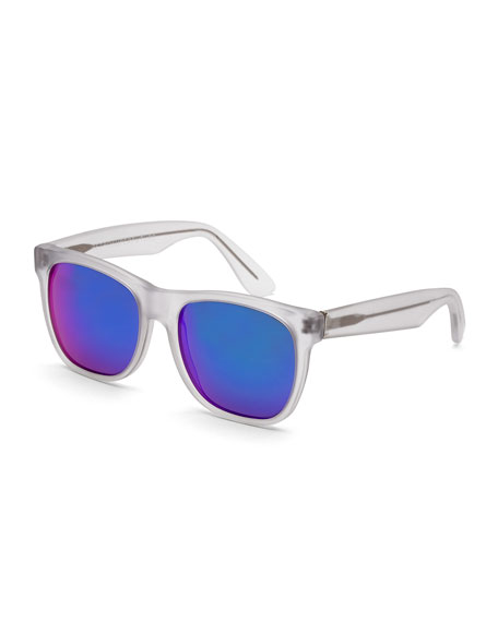 Classic Mirrored-lens Sunglasses, Clear