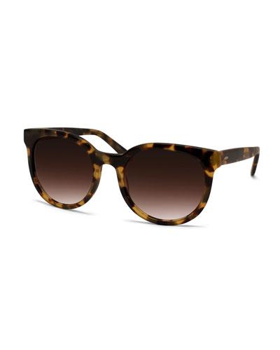 Baez Tortoise-Print Sunglasses