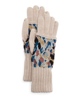 Speckled Knit Gloves