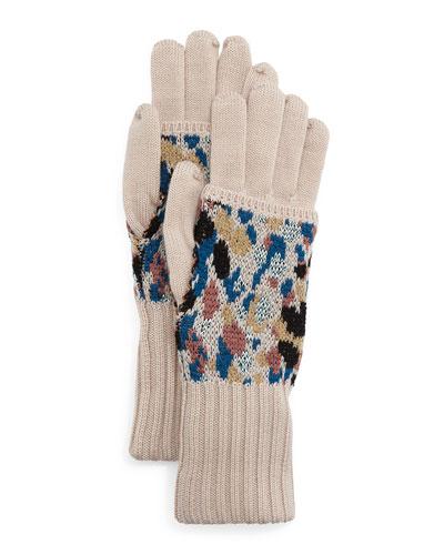 Speckled Knit Gloves