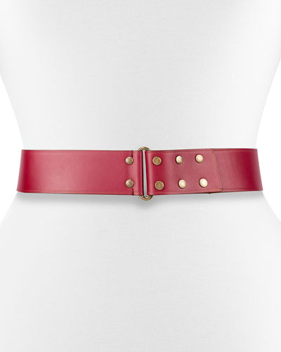 Hale Leather Snap Belt