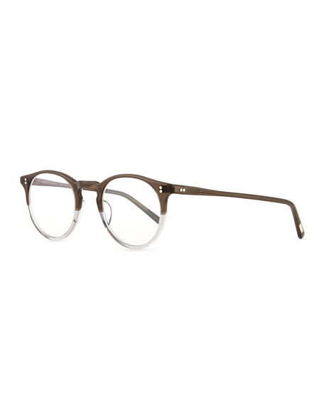 Oliver Peoples O'Malley Round Fashion Glasses, Gray Fade