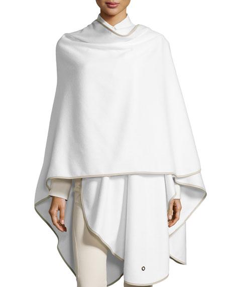 Mantella Regina Cashmere Cape, White/Gray