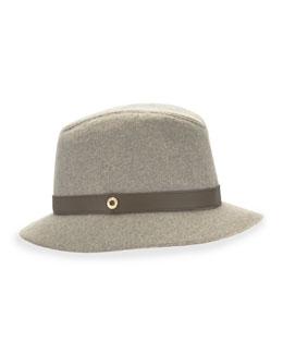 Ingrid Cashmere Storm Hat, Gray