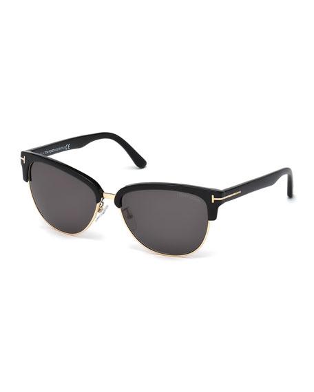 Fany Dual-Rim T-Temple Sunglasses