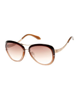 Cat-Eye Aviator Sunglasses