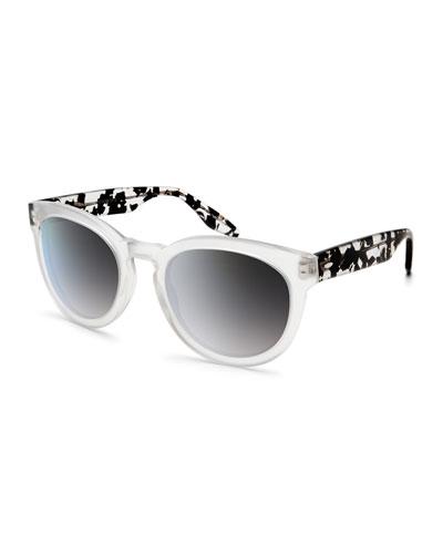 Neneh Keyhole Acetate Sunglasses