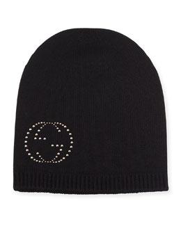 GG Logo Cashmere Beanie Hat