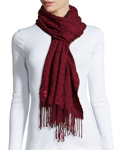 Whipstitch Woven T Scarf