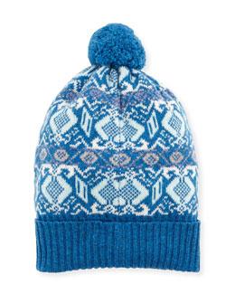 Fair Isle Cashmere Knit Beanie