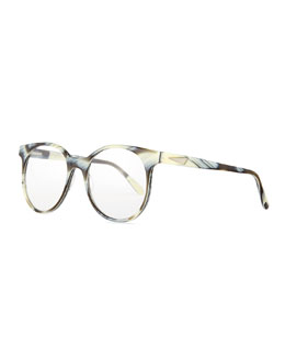 London Acetate Fashion Glasses, Zebra Horn