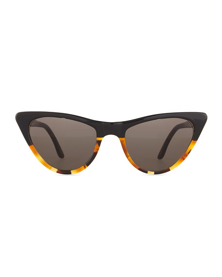 St. Louis Cat-Eye Sunglasses, Tortoise/Black