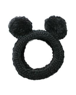 Mies Chunky Hand-Knit Headband w/Pom Poms