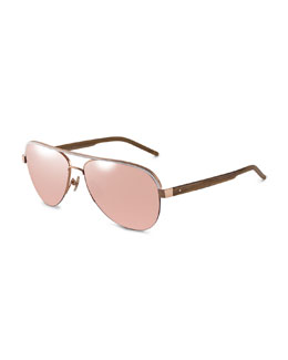 Kennedy 18k Rose Gold Sunglasses (Made to Order)