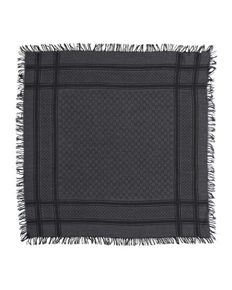 GG Pattern Shawl, Graphite/Black